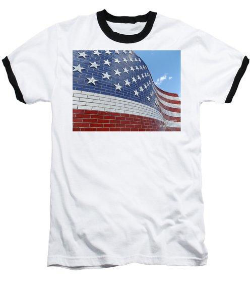 Brick Flag Baseball T-Shirt
