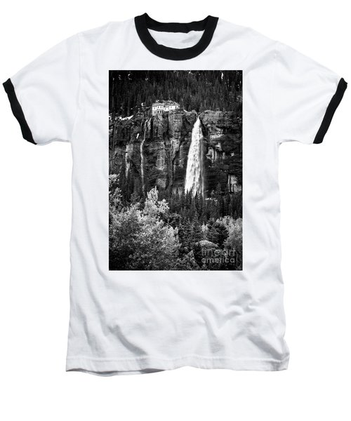 Bridal Veil Falls In Bw Baseball T-Shirt