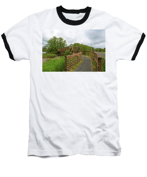 Bridge Along Lewis And Clark Hiking Trail  Baseball T-Shirt