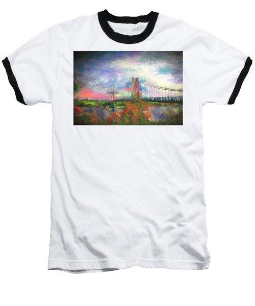 Baseball T-Shirt featuring the digital art Bridge Blues by Terry Cork