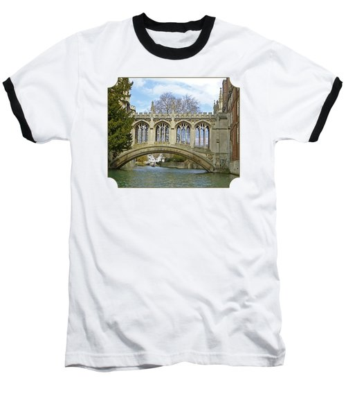 Bridge Of Sighs Cambridge Baseball T-Shirt by Gill Billington