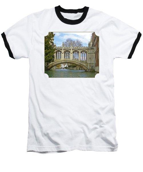 Bridge Of Sighs Cambridge Baseball T-Shirt by Gill Billington