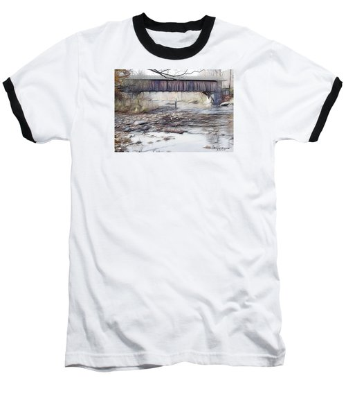 Bridge Over Troubled Waters Baseball T-Shirt by EricaMaxine  Price