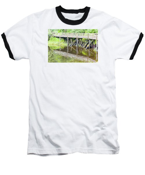 Bridge To Nowhere Baseball T-Shirt by Harold Piskiel