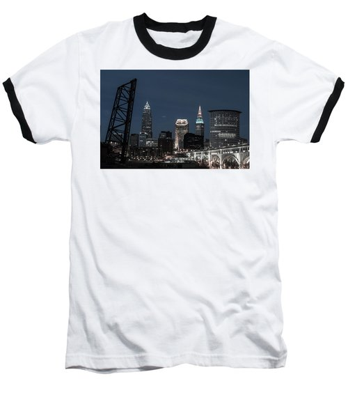 Bridges And Buildings Baseball T-Shirt