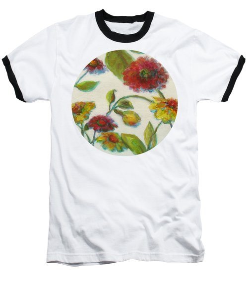 Bright Contemporary Floral  Baseball T-Shirt