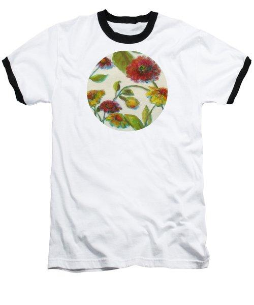 Bright Contemporary Floral  Baseball T-Shirt