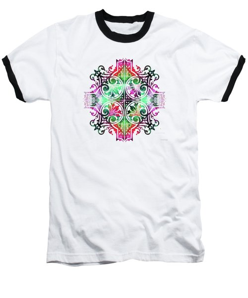 Bright Pattern Art - Color Fusion Design 9 By Sharon Cummings Baseball T-Shirt
