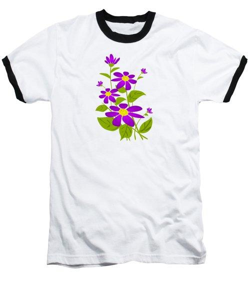 Bright Purple Baseball T-Shirt by Anastasiya Malakhova