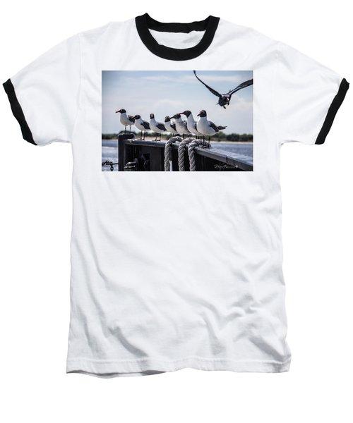 Bringing Up The Rear Baseball T-Shirt by Phil Mancuso