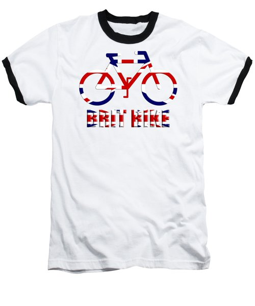 Brit Bike Baseball T-Shirt by Roger Lighterness