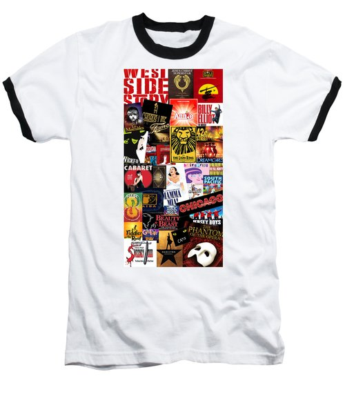 Broadway 9 Baseball T-Shirt by Andrew Fare