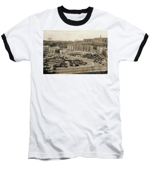 Broadway And Nagle Ave 1936 Baseball T-Shirt by Cole Thompson