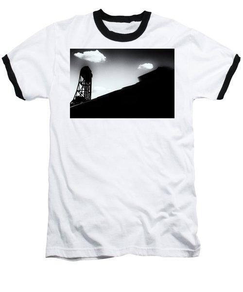 Broadway Bridge Abstract 1 Monochrome Baseball T-Shirt