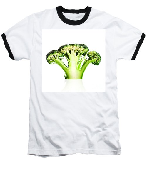 Broccoli Cutaway On White Baseball T-Shirt