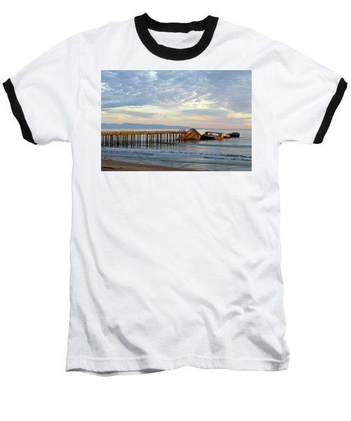 Broken Boat, Ss Palo Alto Baseball T-Shirt by Amelia Racca