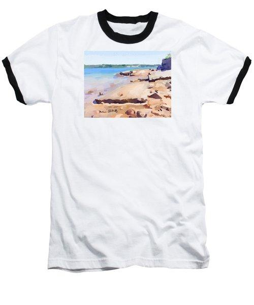 Broken Rock Walkway At Ten Pound Island Beach Baseball T-Shirt