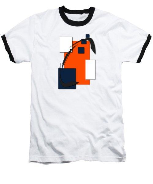 Broncos Abstract Shirt Baseball T-Shirt by Joe Hamilton