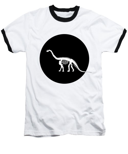 Brontosaurus Skeleton Baseball T-Shirt