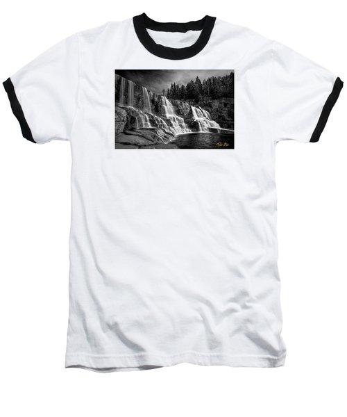 Baseball T-Shirt featuring the photograph Brooding Gooseberry Falls by Rikk Flohr