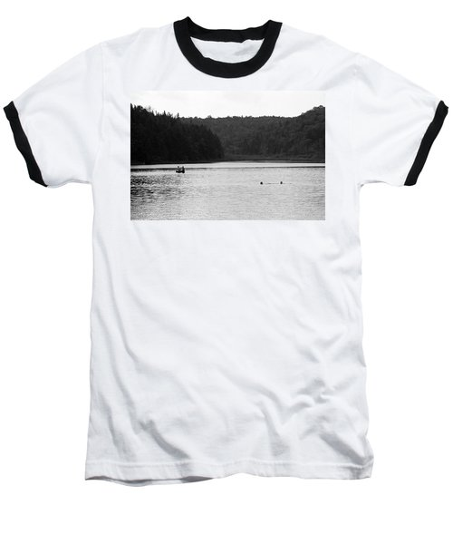 Baseball T-Shirt featuring the photograph Brookfield, Vt - Swimming Hole 2006 Bw by Frank Romeo