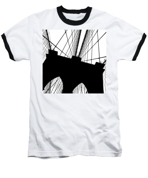 Brooklyn Bridge Architectural View Baseball T-Shirt