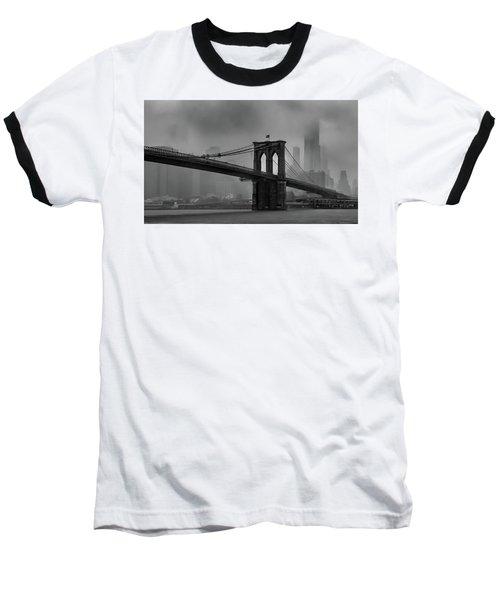 Brooklyn Bridge In A Storm 2 Baseball T-Shirt