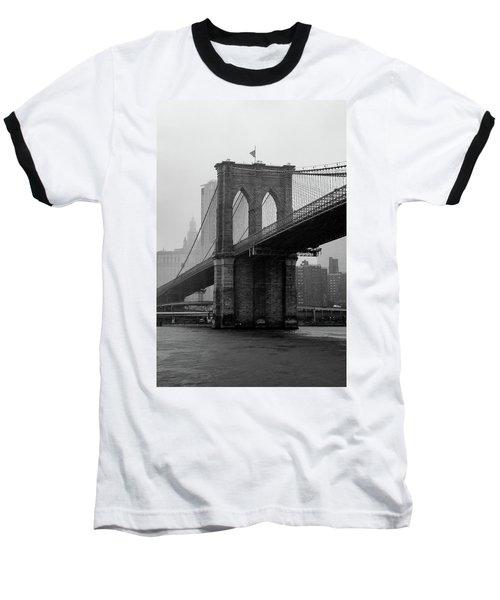 Brooklyn Bridge In A Storm Baseball T-Shirt