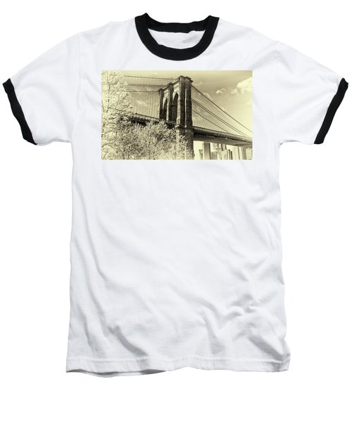 Baseball T-Shirt featuring the photograph Brooklyn Bridge by John Hoey