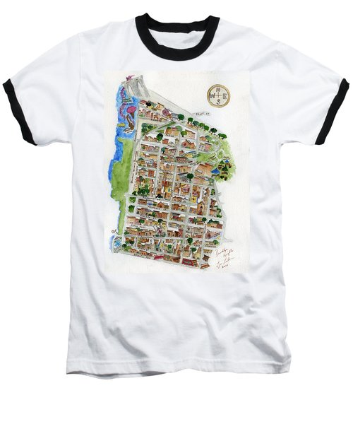 Brooklyn Heights Map Baseball T-Shirt