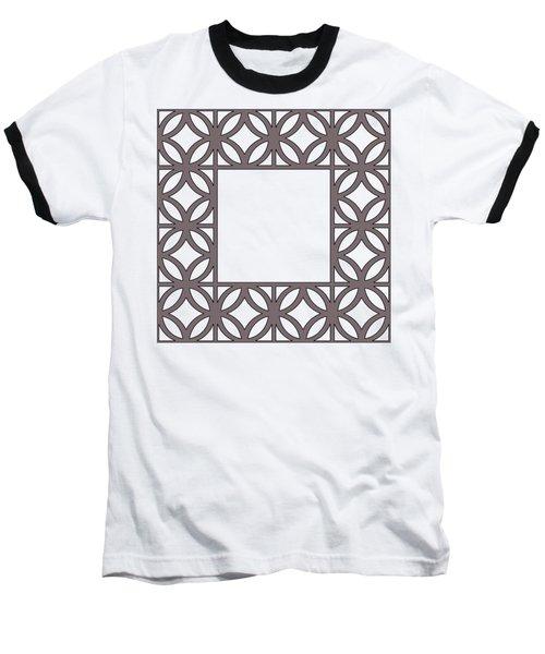 Brown Circles And Squares Baseball T-Shirt