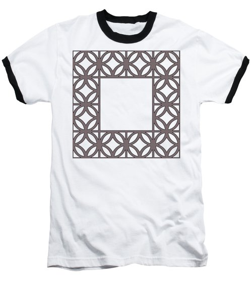 Baseball T-Shirt featuring the digital art Brown Circles And Squares by Chuck Staley