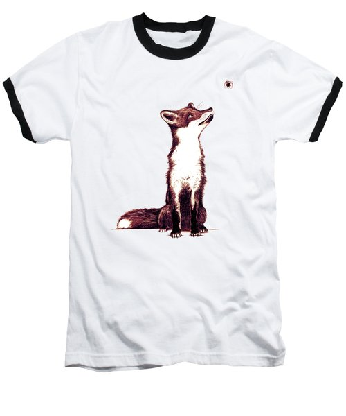 Brown Fox Looks At Thing Baseball T-Shirt