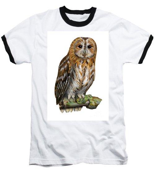 Brown Owl Or Eurasian Tawny Owl  Strix Aluco - Chouette Hulotte - Carabo Comun -  Nationalpark Eifel Baseball T-Shirt