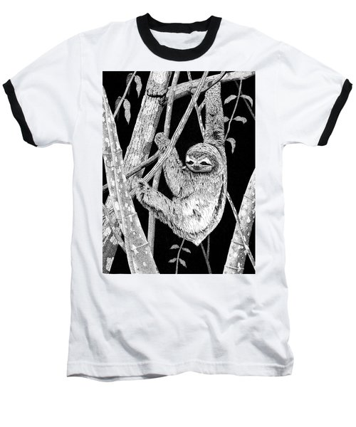 Brown-throated Three-toed Sloth Baseball T-Shirt