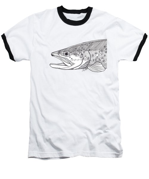 Brown Trout Baseball T-Shirt by Jay Talbot
