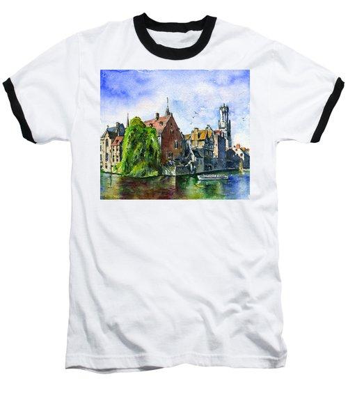 Bruges Belgium Baseball T-Shirt by John D Benson