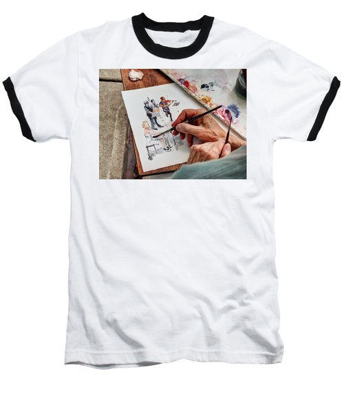 Brush Strokes Baseball T-Shirt