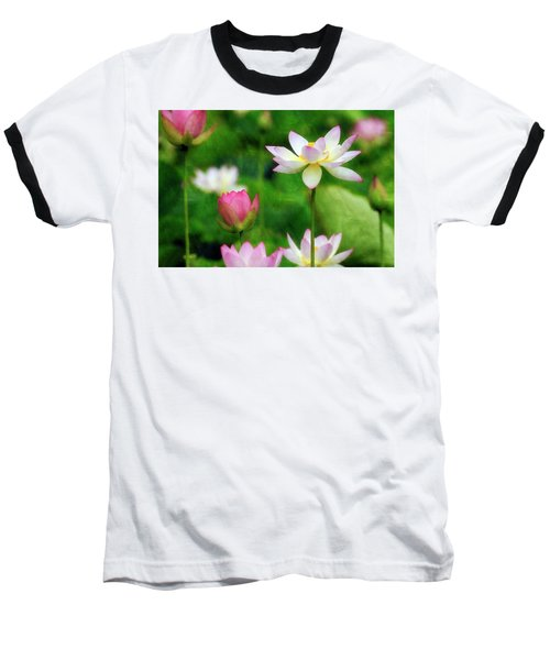 Brushed Lotus Baseball T-Shirt