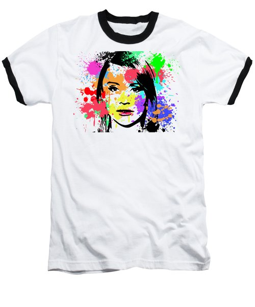 Bryce Dallas Howard Pop Art Baseball T-Shirt