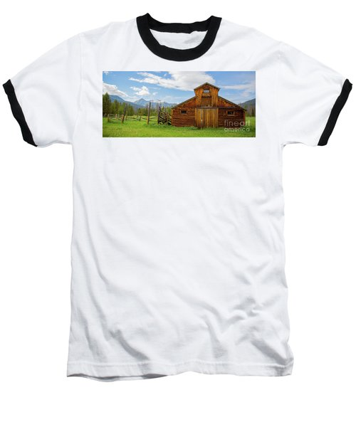 Buckaroo Barn In Rocky Mtn National Park Baseball T-Shirt