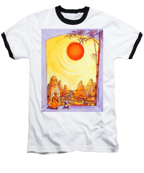 Buddha Meditation Baseball T-Shirt
