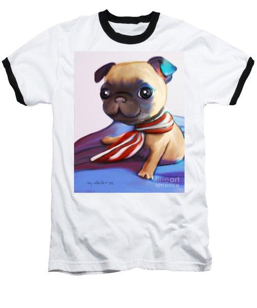 Buddy The Pug Baseball T-Shirt