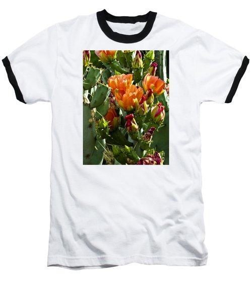 Buds N Blossoms Baseball T-Shirt by Kathy McClure