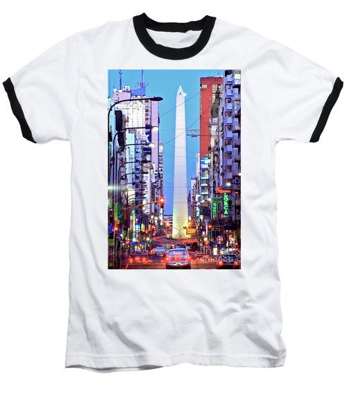 Buenos Aires Obelisk Baseball T-Shirt