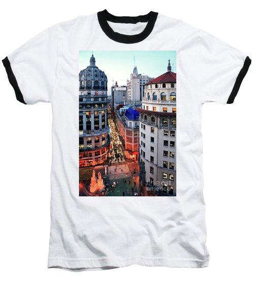 Buenos Aires Street I Baseball T-Shirt by Bernardo Galmarini
