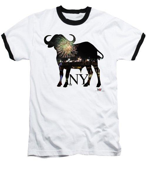 Buffalo Ny Canalside 4th Of July Baseball T-Shirt by Michael Frank Jr