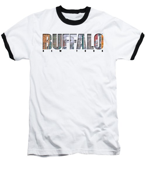 Buffalo Ny Snowy Downtown Baseball T-Shirt