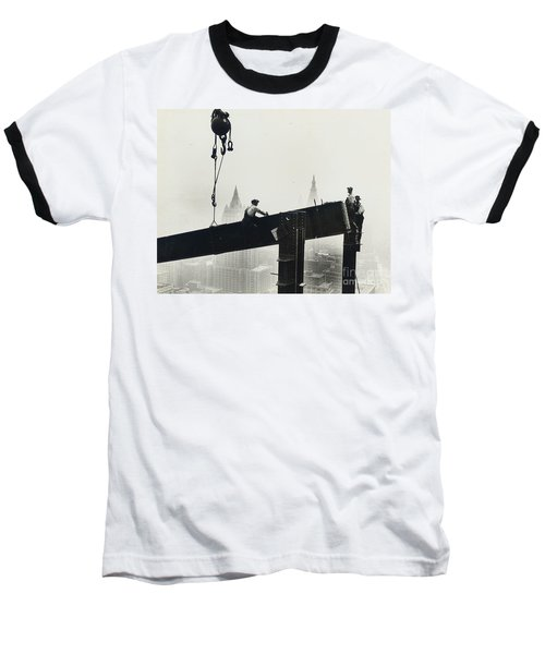 Building The Empire State Building Baseball T-Shirt