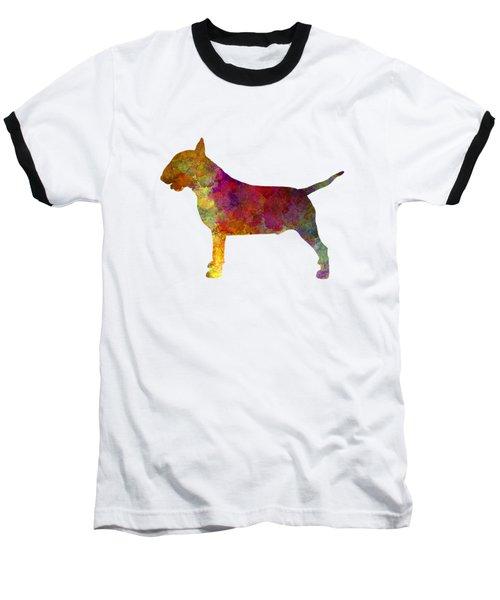 Bull Terrier In Watercolor Baseball T-Shirt by Pablo Romero